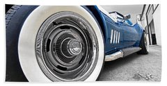 1968 Corvette White Wall Tires Hand Towel