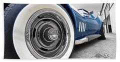 1968 Corvette White Wall Tires Hand Towel