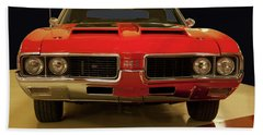 Hand Towel featuring the photograph 1969 Oldsmobile 442 W-30 by Chris Flees