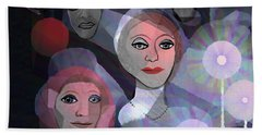 Hand Towel featuring the digital art 1970 - A Ceremony by Irmgard Schoendorf Welch
