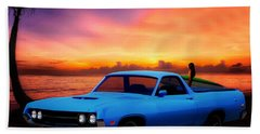 1970 Ranchero Dominican Beach Sunrise Hand Towel