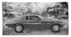 1971 Chevrolet Camaro Bw C127 Hand Towel by Rich Franco