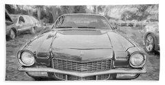 1971 Chevrolet Camaro Bw C128 Hand Towel by Rich Franco