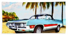 1971 Ford Ranchero At Three Palms - 5th Generation Of Ranchero Hand Towel