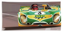 1971 Porsche 908-02k  Bath Towel