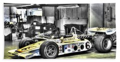 Bobby Unser 1972 Olsonite Eagle Pole Position Car  Bath Towel