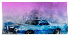 1979 Ranchero Watercolour Of The Last Sport Pickup Truck Hand Towel