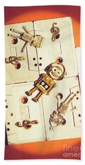 1980s Robot Dancer Bath Towel