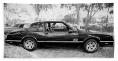 1987 Chevrolet Monte Carlo Ss Coupe Bw C124  Hand Towel by Rich Franco