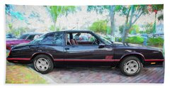 1987 Chevrolet Monte Carlo Ss Coupe C121 Bath Towel by Rich Franco