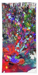 Bath Towel featuring the painting 1987.032914invertfadediff by Kris Haas