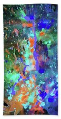 Hand Towel featuring the painting 1988.033014invert by Kris Haas