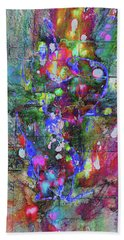 Hand Towel featuring the painting 1989.033014invertfadediff by Kris Haas