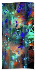Hand Towel featuring the painting 1990.033014invert by Kris Haas