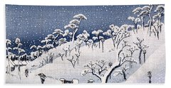 19th C. Snow On Asuka Hill Hand Towel
