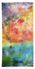 Hand Towel featuring the painting 1c Abstract Expressionism Digital Painting by Ricardos Creations