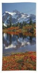 1m4208 Mt. Shuksan And Picture Lake Bath Towel