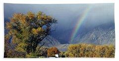 1m6345 Rainbow In Sierras Hand Towel