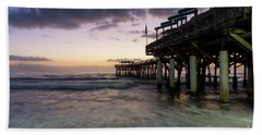 1st Dawn Cocoa Pier Hand Towel by Jennifer White
