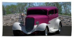 1933 Ford Vicky Hand Towel by Tim McCullough