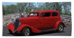 1934 Ford Sedan Hot Rod Hand Towel