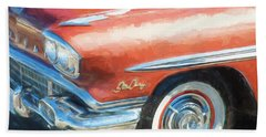 Hand Towel featuring the photograph 1958 Pontiac Star Chief  by Rich Franco