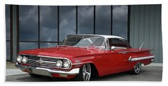 1960 Chevrolet Impala Hand Towel by Tim McCullough