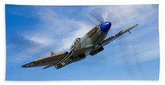 A Supermarine Spitfire Mk-18 In Flight Hand Towel