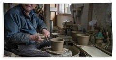 A Village Pottery Studio, Japan Hand Towel