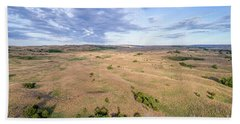 aerial view of Nebraska Sandhills  Hand Towel