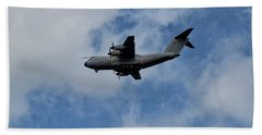 Bath Towel featuring the photograph Airbus A400m by Shirley Mitchell