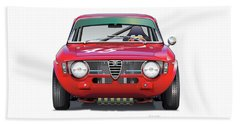 Alfa Romeo Gtv Illustration Hand Towel by Alain Jamar
