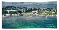 Ambergris Caye Aerial View Hand Towel