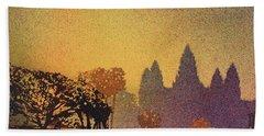 Angkor Sunrise Bath Towel by Ryan Fox