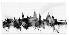 Hand Towel featuring the digital art Annapolis Maryland Skyline by Michael Tompsett