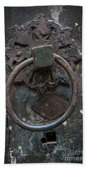 Hand Towel featuring the photograph Antique Door Knocker by Elena Elisseeva