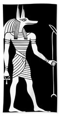 Anubis - God Of Ancient Egypt Bath Towel