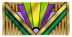 Art Deco 14 Transparent Hand Towel by Chuck Staley