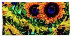 Artistic Sunflowers Hand Towel