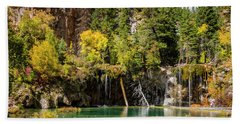 Autumn At Hanging Lake Waterfall - Glenwood Canyon Colorado Bath Towel