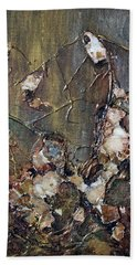 Bath Towel featuring the painting Autumn Leaves by Joanne Smoley