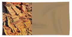 Hand Towel featuring the photograph Bands Of Color In Valley Of Fire by Ray Mathis