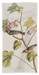 Bay Breasted Warbler Hand Towel by John James Audubon