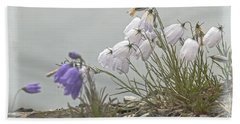 Hand Towel featuring the photograph Bellflower by Heiko Koehrer-Wagner