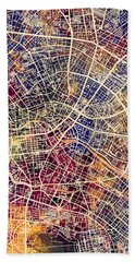 Berlin Germany City Map Hand Towel
