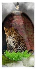 Big Cat Leopard Art Hand Towel