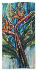 Bird Of Paradise Bouquet Bath Towel by Linda Olsen