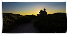 Block Island North Lighthouse Bath Towel