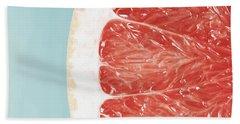 Blood Orange Slice Macro Details Hand Towel
