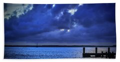 Blue Sunset Bath Towel